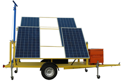 24 Volt Solar Powered System with Manual Crank Mast