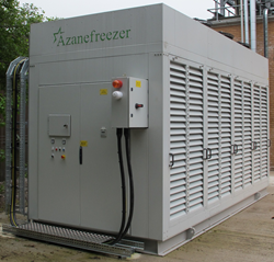 Star's Azanefreezer operates with low charge ammonia refrigerant
