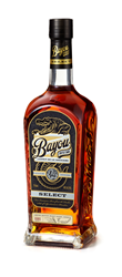 Bayou Select Rum bottle on white background