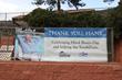 banner display at Glenwood Hot Springs for Hank Bosco Day