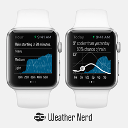 Weather Nerd forecasts on Apple Watch