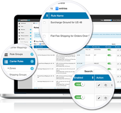 The ShipperHQ dashboard gives merchants full control over the shipping options and rates they offer their customers.
