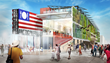 Rendering of the USA Pavilion, Expo Milano 2015