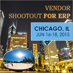 The 23rd Vendor Shootout for ERP in Chicago, June 16-18, 2015
