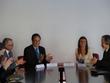 L-R: Ambassador Benmossua, Anouar Majid, Céline Braconnier