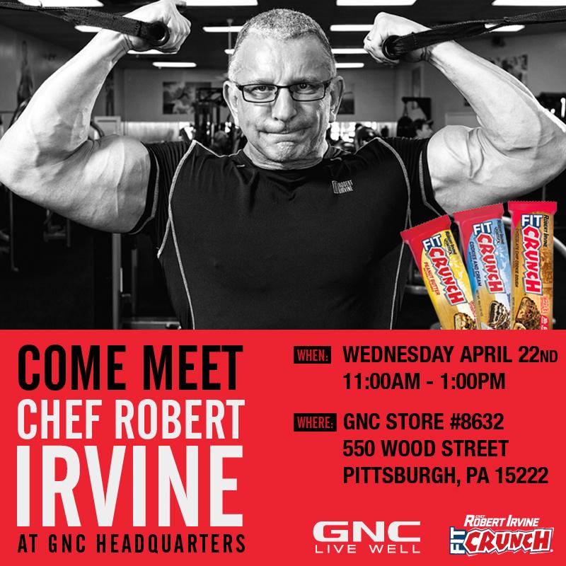 Google Office Irvine 1: Chef Robert Irvine Visits GNC Headquarters