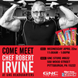 Chef Robert Irvine Visits GNC Headquarters