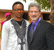 Nigerian Pastor John O. Daniel with James Thorpe.