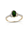 Russian Diopside Diamond Gold Ring