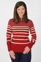 University of Oklahoma Sooners Striped Sweater