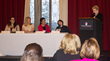 Panelists Jackelyn Melia, Fabienne Fredrickson, Maria Imperial, Clare LeGal, and moderator Janine Rose.