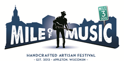Mile of Music in Downtown Appleton, Wisconsin