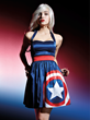 This new Captain America Halter Dress in the Marvel by Her Universe fashion collection (exclusively in select Hot Topic stores and hottopic.com) will be available mid-May with an online pre-sale 4/21.