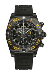 The Breitling Jet Team American Tour Chronomat 44 Blacksteel timepiece