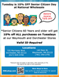 Tuesday is 10% Off Senior Citizen Day
