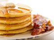 Cornmeal Pancakes with Bacon