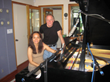 Lynn Yew Evers with Will Ackerman in his Studio in Vermont