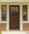 Arborwatch decorative glass in Classic-Craft American style door collection from Therma-Tru.