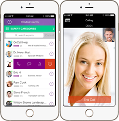 OnCall Debuts App for iOS and Android Devices: Experts 'On Call' Worldwide for Businesses and Consumers in Thousands of Specialties