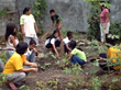 Sponsored children participating in the Unbound Antipolo 'Clean and Green' program in the Philippines
