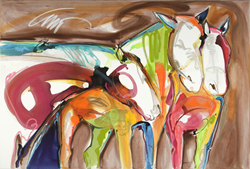 See Western Painter Carrie Fell in Action at Sorrel Sky Gallery