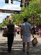 Visitors Wander Along Historic Market Street During GlassFest