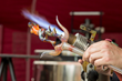 Flameworking Demonstration During GlassFest