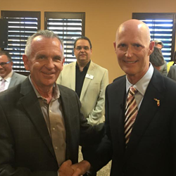 Jack Chevrier & Governor Rick Scott