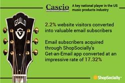 Cascio Interstate Music using ShopSocially platform