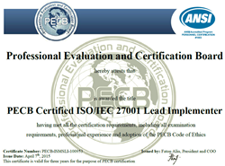 ISO 27001 Lead Implementer Certification