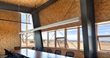 Expansive views and natural materials connect award-winning Pearl Izumi headquarters conference room to its Colorado setting. (Photo: Raul Garcia)