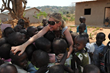 Love 41 Founder Suzette Munson loving on Rwandan kids