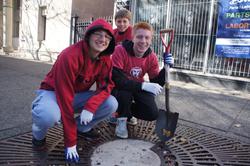 Volunteers help during TMF National Service Week