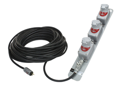 Explosion Proof 150' SOOW Extension Cord with Three Twist Lock Receptacles