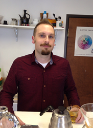 Brandon Bir, coffee and training specialist, Crimson Cup Coffee & Tea