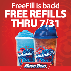 Cool off this summer at RaceTrac with Sodapalooza FreeFill