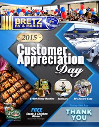 Bretz RV & Marine invites the community for their annual Customer Appreciation Day; a fun, family friendly event that encourages the RV lifestyle.