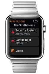 Home screen of Alarm.com's Apple Watch App