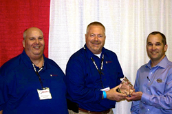 SmartTruck & Trudell Staff Accepting the Award