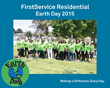 FirstService Residential Associates Beautify City Park for Earth Day