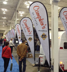 RVs for sale at the Toronto RV Show