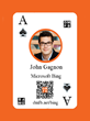 DMFB Marketing Games Playing Card Customized with Keynote Speaker John Gagnon