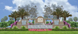 Rendering of the entrance to K. Hovnanian's® Four Seasons at Parkland