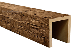 Rough hewn decorative beams are lightweight, easy to install, and practically indistinguishable from the real thing.