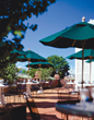 Hotel Viking's Garden Patio is located on the corner of Bellevue Avenue and Church Street.