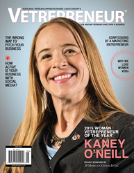 2015 Woman Vetrepreneur of the Year®, Kaney O'Neill, CEO of O'Neill Contractors, named by NaVOBA and JPMC