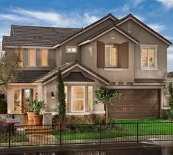 Exterior of the Jadestone new home built by McCaffrey Homes of Fresno, CA