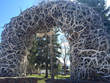 The final elk antler arch on the northwest corner of Jackson Town Square will be sold at this year's ElkFest, May 16-17, in Jackson Hole.