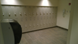 Tufftec Lockers in a matching color to the partitions contributed to the clean, modern design.