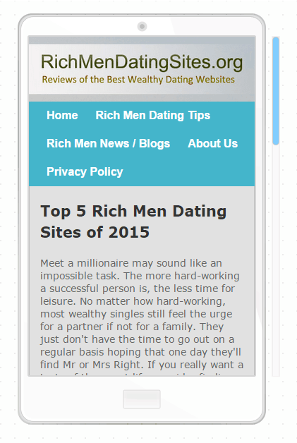 Rich men online dating